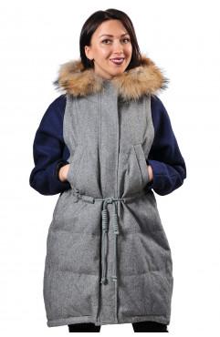 Пуховое пальто O.A.Z.Q